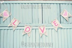 Love Valentine Bunting