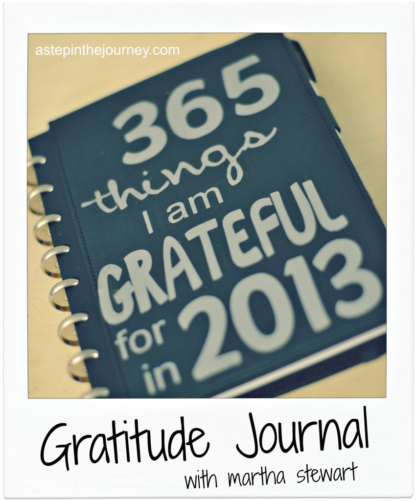 gratitude journal at astepinthejourney.com