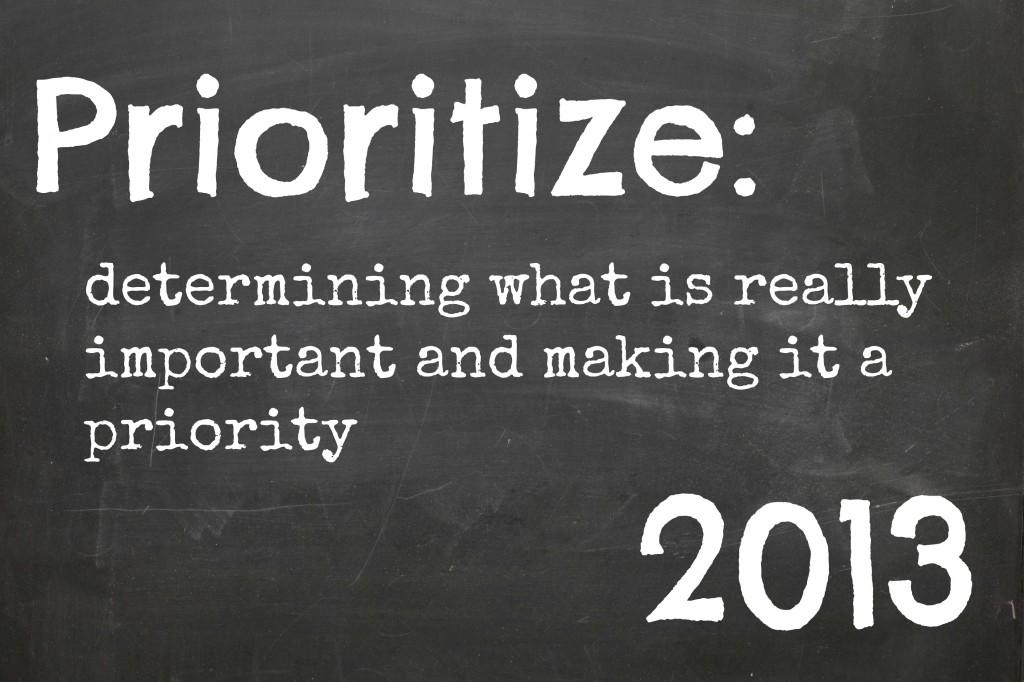 prioritize 2013