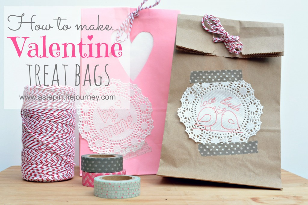 How to make Valentine Treat bags at www.astepinthejourney.com