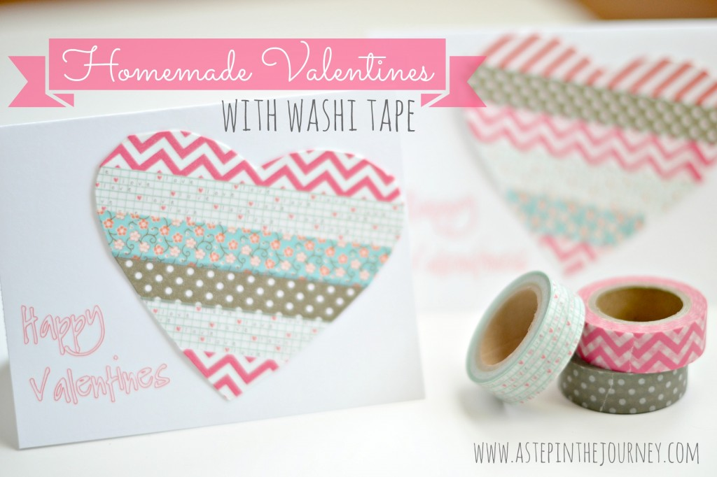 homemade valentines washi tape