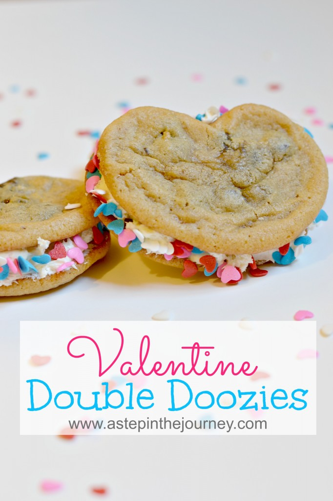 valentine cookie sandwiches