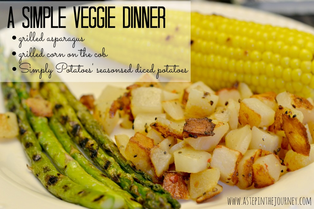 a simple veggie dinner