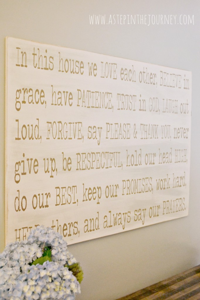 in this house_diy wall art