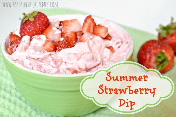 Sumertime Strawberry Dip