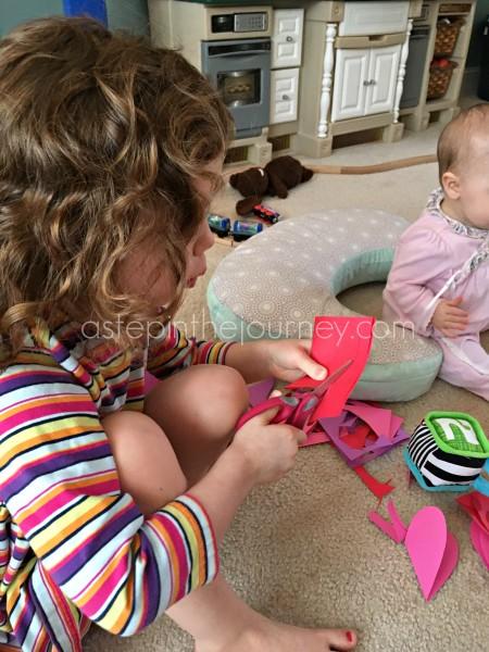 toddler scissor practice