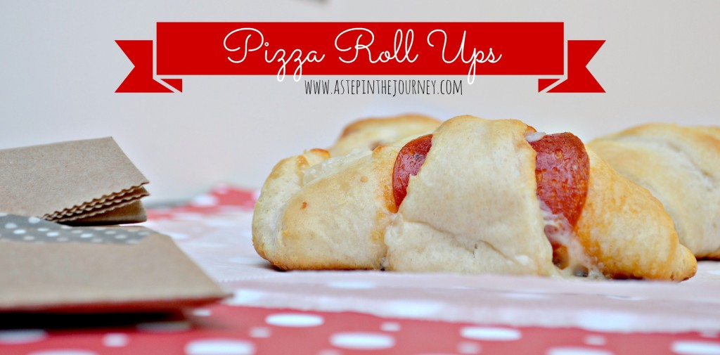 Pizza Roll Ups using Crescent Rolls