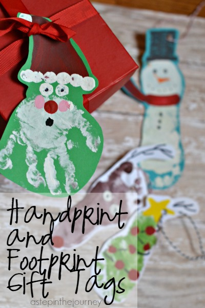 Hand print and Footprint Ornaments AND Gift Tags