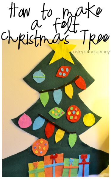 How to Make a Felt Christmas Tree for the Kids