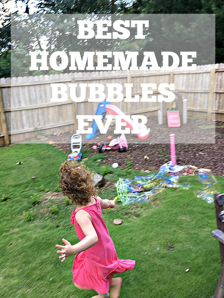 Best Homemade Bubble Recipe